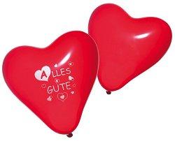 Парти балони - Сърце - Комплект от 8 броя -