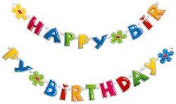 Гирлянд - Честит рожден ден - количка