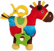 Конче - Мека музикална играчка с вибрация за детска количка и легло -