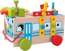 Монтажен автобус - Детски дървен конструктор -