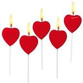 Свещи - Сърце - Парти аксесоар -