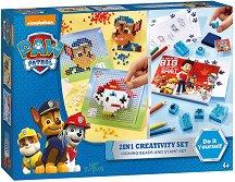 Цветни печати и мозайка с мъниста - Творчески комплект - играчка