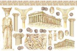 Декупажна хартия - Древна Гърция - Размери 48 x 33 cm