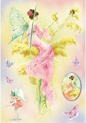 Декупажна хартия - Феи и пеперуди