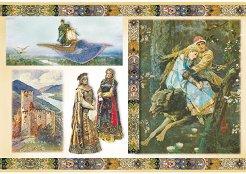 Декупажна хартия - Руски приказки - Размери 48 x 33 cm