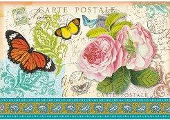 Декупажна хартия - Пощенски марки и пеперуди 56