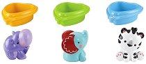 Лодки с животинки - Комплект играчки за баня -