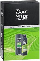 Подаръчен комплект за мъже - Dove Extra Fresh - Душ гел и дезодорант -