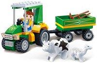 """Трактор с ремарке - Детски конструктор от серията """"Eco Farm"""" -"""
