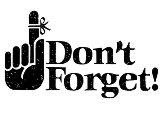 Силиконов печат - Dont't Forget - печат