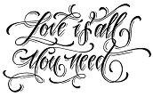 Силиконов печат - Love is all you need - Размер 7 x 11 cm - продукт