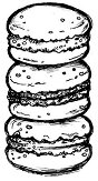 Силиконов печат - Хамбургери - Размер 7 x 5 cm -
