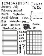 Силиконови печати - Календар - Размер 14 x 18 cm -