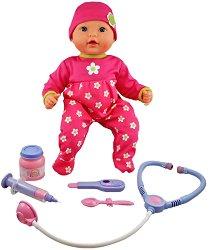 """Бебе Миа - Интерактивна кукла с лекарски комплект от серията """"Mother Love"""" -"""
