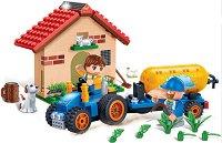 """Трактор с ремарке за вода - Детски конструктор от серията """"Eco Farm"""" -"""