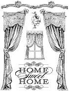 Гумен печат - Home Sweet Home - Размери 14 x 18 cm - боя