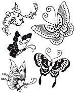 Гумен печат - Пеперуди - Размери 14 x 18 cm - продукт