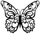 Гумен печат - Пеперуда - Размери 10 x 10 cm -