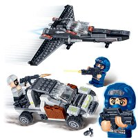 """Бойна кола и изтребител - Детски конструктор от серията """"Mission Eagle"""" -"""