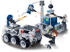 """Боен камион и енергийна база - Детски конструктор от серията """"Mission Eagle"""" -"""