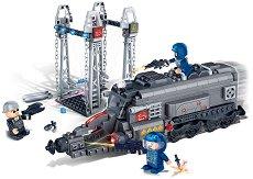 """Брониран локомотив и ракетна база - Детски конструктор от серията """"Mission Eagle"""" -"""
