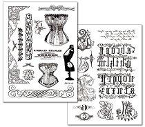 Трансферна хартия - Корсети, орнаменти и монограми - Опаковка от 2 листа с формат А4