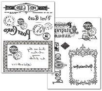 Трансферна хартия - Пощенска картичка - Опаковка от 2 листа с формат А4