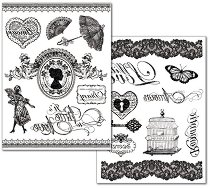 Трансферна хартия - Дантели - Опаковка от 2 листа с формат А4