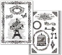 Трансферна хартия - Bonjour - Опаковка от 2 листа с формат А4