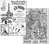 Трансферна хартия - Париж - Опаковка от 2 листа с формат А4