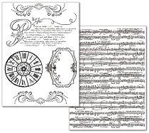 Трансферна хартия - Музика - Опаковка от 2 листа с формат А4