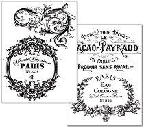 Трансферна хартия - Орнаменти и надписи - Опаковка от 2 листа с формат А4