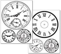 Трансферна хартия - Часовници - Опаковка от 2 листа с формат А4