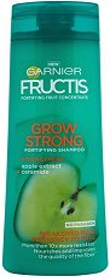 Garnier Fructis Grow Strong Shampoo - Шампоан за тънка и късаща се коса в разфасовки от 250 ÷ 400 ml - продукт