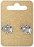 Метални висулки - Слончета - Комплект от 2 броя