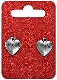 Метални висулки - Сърца - Комплект от 2 броя