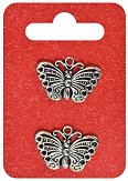 Метални висулки - Пеперуди - Комплект от 2 броя