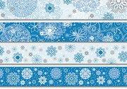 Декоративно тиксо - Зима - Комплект от 4 броя