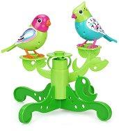 """Интерактивни птичета - Флорал и Сали с дърво-стойка - Детска играчка от серията """"Digibirds"""" -"""
