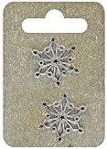 Метални висулки - Коледна снежинка - Комплект от 2 броя