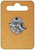 Металнa висулкa - Медальон - Височина 2.3 cm