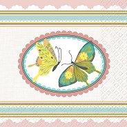 Салфетки за декупаж - Пеперуди - Пакет от 20 броя