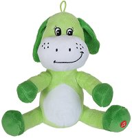 Куче - Бебешка плюшена играчка с дрънкалка - играчка