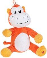 Маймуна - Бебешка плюшена играчка с дрънкалка -