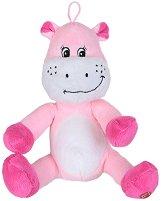 Хипопотам - Бебешка плюшена играчка с дрънкалка - играчка