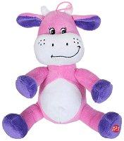 Крава - Бебешка плюшена играчка с дрънкалка -