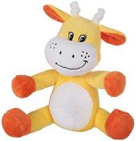 Жирафче - Бебешка плюшена играчка с дрънкалка - играчка