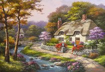 Къщичка през пролетта - Сонг Ким (Sung Kim) - пъзел