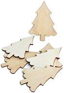 Фигурки от шперплат - Елхички - Комплект от 6 броя с височина 8 cm