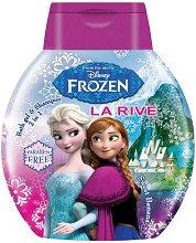 """La Rive Disney Frozen Bath Gel & Shampoo 2 in 1 - Детски душ гел за коса и тяло с аромат на банан от серията """"Замръзналото кралство"""" - шампоан"""
